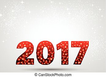 Red 2017 New Year background.