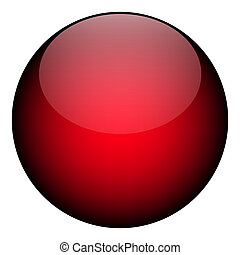 A red orb - it works as a great planet, button, or other art element.