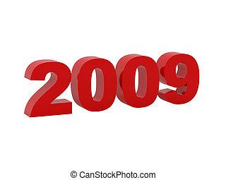 red 3d symbol  newyear