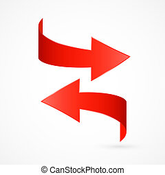 Red Abstract 3d Arrow Icon