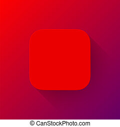 Red Abstract App Icon Blank Template - Red abstract app...