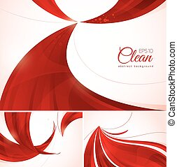 Red abstract background. A set of red vector abstract...