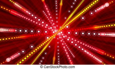 red abstract background and circles