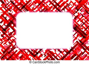 Red abstract background on white.
