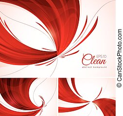 red abstract background - Red abstract background. A set of...
