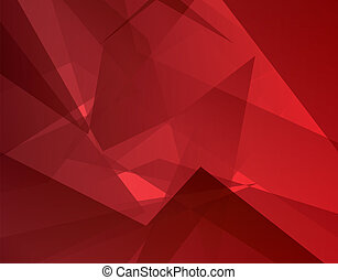 Red abstract background (vector). Modern concept. - Red...