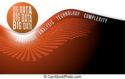 red abstract background with big data headline