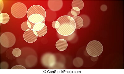 Red abstract background with bokeh. Loop animations. With a central location for the text .