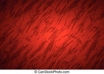 Red abstract background with dark streaks, vector illustration