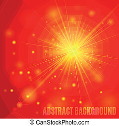 Red abstract background with flare