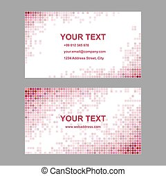 Red abstract business card template design