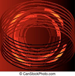 Red abstract circle background