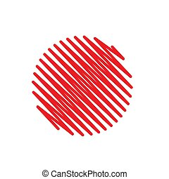 Red Abstract Circle Scribble Background
