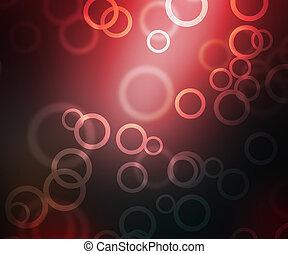 Red Abstract Circles Bokeh
