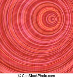 Red abstract concentric circle design background