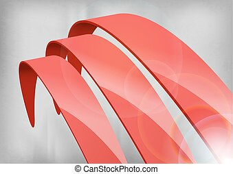 Red Abstract Curves