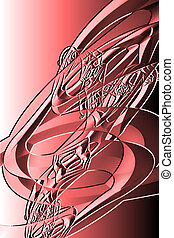 red abstract drawing