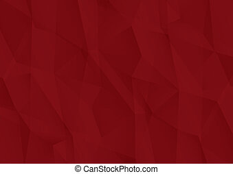 Red abstract geometric vector background.
