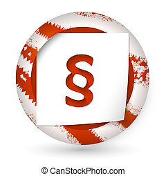 red abstract icon with paper and paragraph