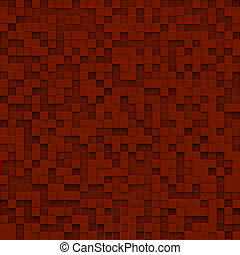 Red abstract image of cubes background