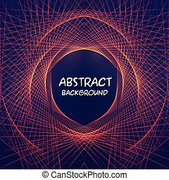 Red Abstract Lines Black Background Vector Image