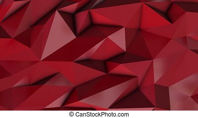 Red abstract low poly triangle background