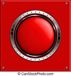 Red abstract metallic background wi