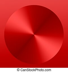 Red Abstract Metallic Button - Background