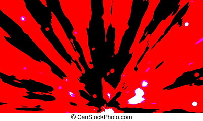 Red abstract motion