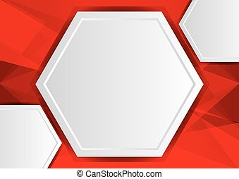 red abstract poly background with copy space