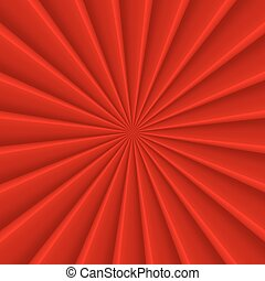 Red abstract rays circle vector background - Red abstract...