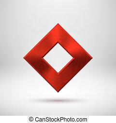 Red Abstract Rhombic Button Template