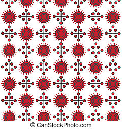 Red abstract seamless vector pattern
