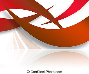 Red Abstract Swoosh Layout - A modern background layout with...