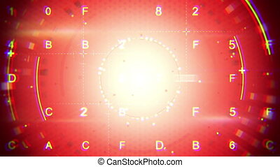 red abstract techno loopable background