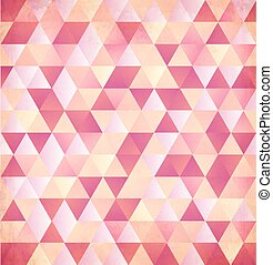 Red abstract triangle vintage background