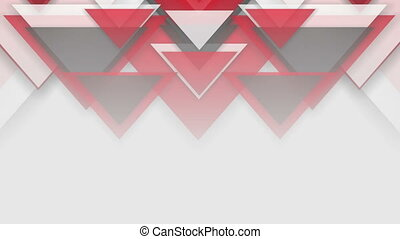 Red abstract triangles technology video animation