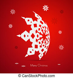 Red Abstract Vector Merry Christmas Background