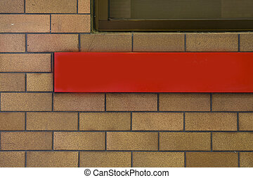 red advertisement bar outdoor