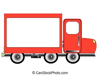 Promotional truck with a frame for your image or text vector format
