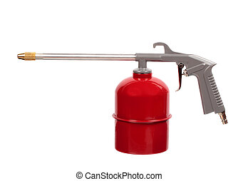 Red air gun isolated on white background