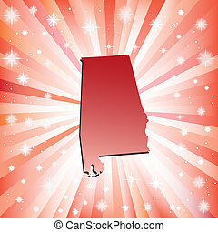 Red Alabama. Vector illustration