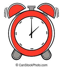 Red alarm clock icon