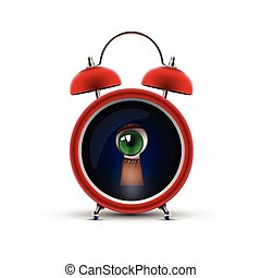 clock with keyhole eye