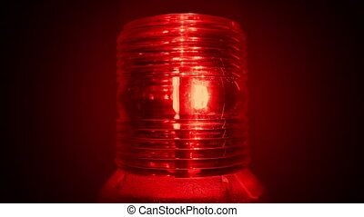 Red Alarm Light Flashing - Red alert alarm light flashes in...