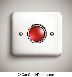 Red alarm shiny button