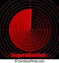 Red alert on radar screen