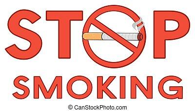 Red Alphabets Stop Smoking