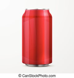 red aluminium can