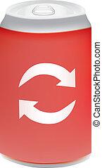 Red aluminium can